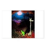 Giraffe and Frog Art Deco Abstract Fantasy Print P