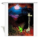Giraffe and Frog Art Deco Abstract Fantasy Print S