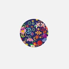Boho floral Mini Button