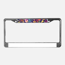 Boho floral License Plate Frame