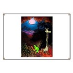 Giraffe and Frog Art Deco Abstract Fantasy Print B