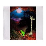 Giraffe and Frog Art Deco Abstract Fantasy Print T