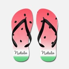Watermelon Ombre Custom Flip Flops