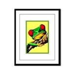 Abstract Fantasy Art Deco Tree Frog Framed Panel P
