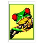 Abstract Fantasy Art Deco Tree Frog Poster