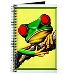 Abstract Fantasy Art Deco Tree Frog Journal