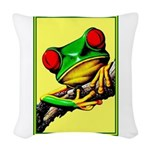 Abstract Fantasy Art Deco Tree Frog Woven Throw Pi