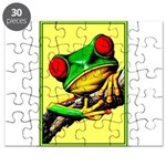 Abstract Fantasy Art Deco Tree Frog Puzzle