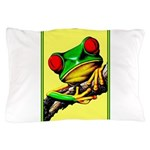 Abstract Fantasy Art Deco Tree Frog Pillow Case