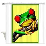 Abstract Fantasy Art Deco Tree Frog Shower Curtain