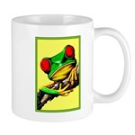 Abstract Fantasy Art Deco Tree Frog Mugs