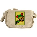 Abstract Fantasy Art Deco Tree Frog Messenger Bag