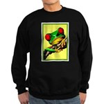 Abstract Fantasy Art Deco Tree Frog Sweatshirt