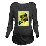 Abstract Fantasy Art Deco Tree Frog Long Sleeve Ma