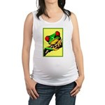 Abstract Fantasy Art Deco Tree Frog Maternity Tank