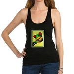 Abstract Fantasy Art Deco Tree Frog Racerback Tank