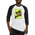 Abstract Fantasy Art Deco Tree Frog Baseball Jerse