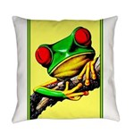Abstract Fantasy Art Deco Tree Frog Everyday Pillo