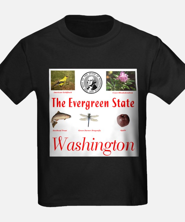 Evergreen State (red) T-Shirt