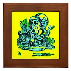Mad Hatter Speaking Framed Tile
