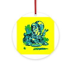 Mad Hatter Speaking Ornament (Round)