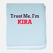 Trust Me, I'm Kira baby blanket