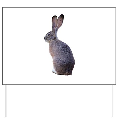 Blacktailed Jackrabbit Yard Sign