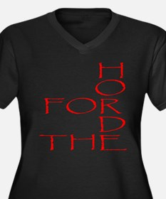 Horde Pride Women's Plus Size V-Neck Dark T-Shirt