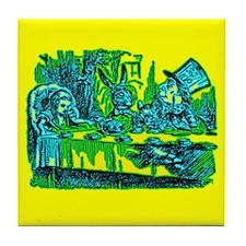 Alice at Tea Party Tile Coaster