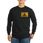Don't Tread on Me! Long Sleeve Dark T-Shirt