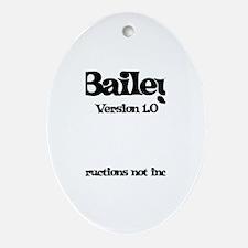 Bailey Version 1.0 Oval Ornament