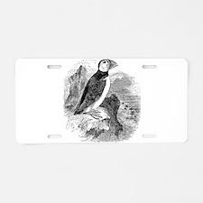 Vintage Arctic Puffin Bird Aluminum License Plate
