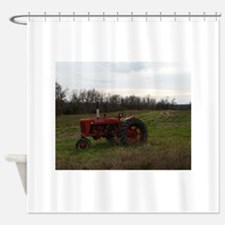 Cute Tractor Shower Curtain