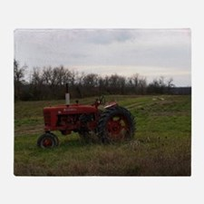 Cute Tractor Throw Blanket