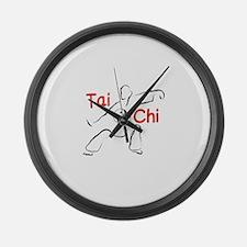 Tai Chi Large Wall Clock