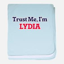 Trust Me, I'm Lydia baby blanket