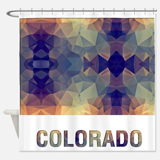 Mosaic Map COLORADO Shower Curtain