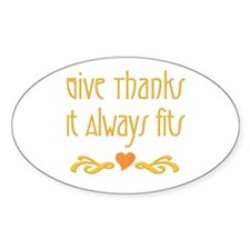 Give Thanks Oval Decal