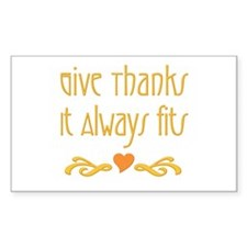 Give Thanks Rectangle Decal