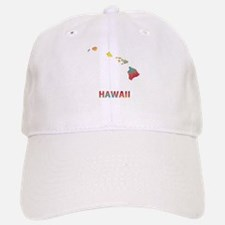 Mosaic Map HAWAII Baseball Baseball Cap