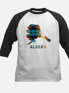 Mosaic Map ALASKA Baseball Jersey