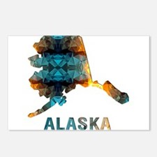 Mosaic Map ALASKA Postcards (Package of 8)