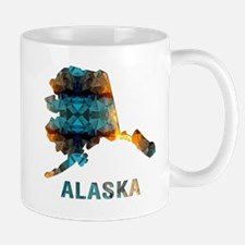Mosaic Map ALASKA Mugs