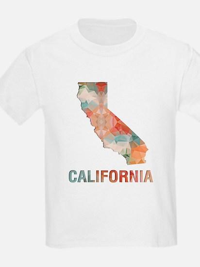 Mosaic Map CALIFORNIA T-Shirt