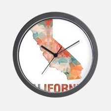 Mosaic Map CALIFORNIA Wall Clock