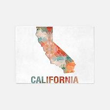 Mosaic Map CALIFORNIA 5'x7'Area Rug