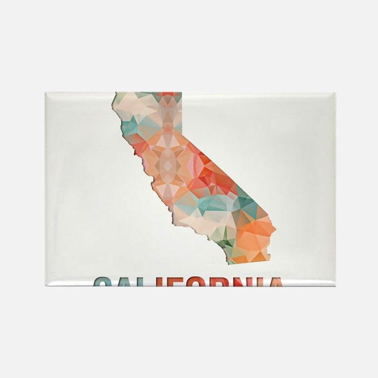 Mosaic Map CALIFORNIA Magnets