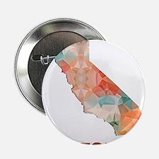 """Mosaic Map CALIFORNIA 2.25"""" Button"""