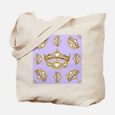 Queen of Hearts gold crown tiara scattere Tote Bag