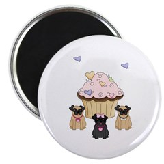 Pug Dog Cupcakes Magnet